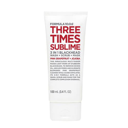 Formula 10.0.6 - Three Times Sublime 3 en 1 nettoyant-Exfoliant-masque