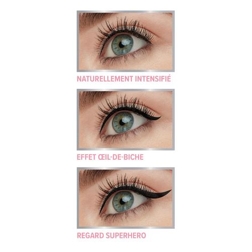 Superhero Liner Super Eyeliner Gel-Liquide Waterproof Tenue 24H Application Facile