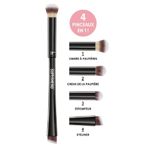 Superhero Brush 4-in-1 Super Pinceau Yeux Ombres & Eyeliner 4-en-1