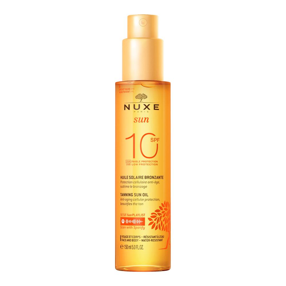 Huile Bronzante Faible Protection  SPF10 Nuxe Sun