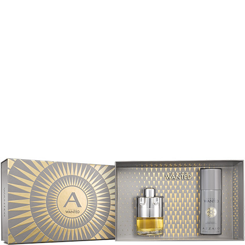 Azzaro Wanted  Coffret Noël Eau de Toilette, Déodorant Spray