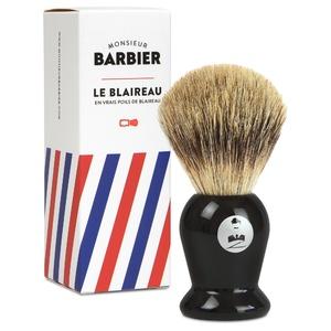 Le Blaireau Barbier Blaireau de rasage traditionnel, en vrais poils naturels de blaireau