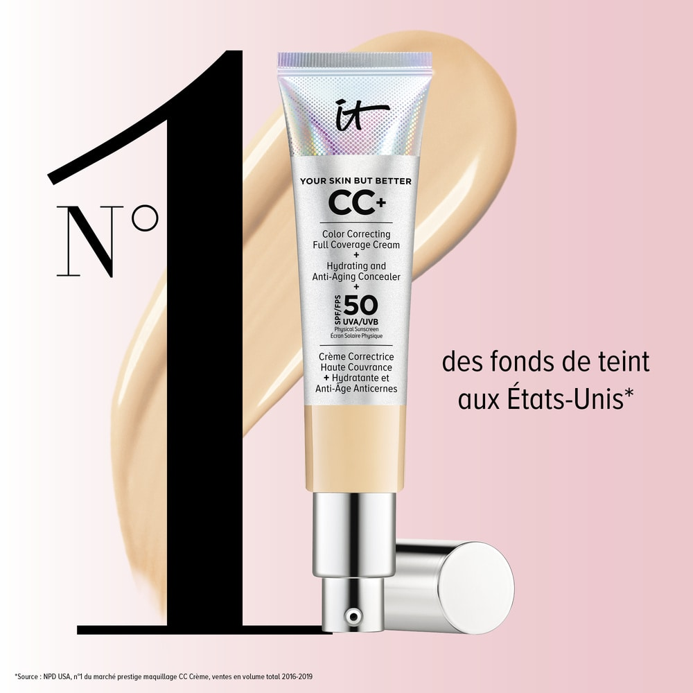 Your Skin But Better™ CC+ Cream Oil Free Matte CC Crème Correctrice Haute Couvrance Anti-Pores Apparents