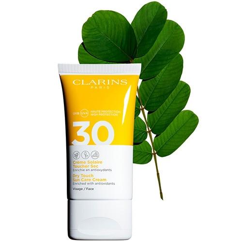 Crème Solaire Toucher Sec Visage UVA/UVB 30 Crème solaire enrichie en antioxydants
