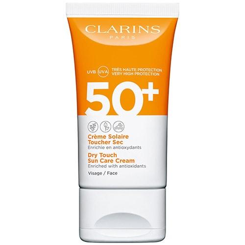 Crème Solaire Toucher Sec - Visage UVA/UVB 50+ Crème solaire enrichie en antioxydants