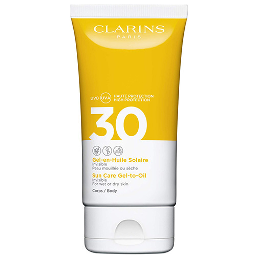 Gel-en-Huile Solaire Corps UVA/UVB 30 Crème solaire enrichie en antioxydants