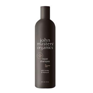 Shampoing pour cheveux abîmés au miel et à l'hibiscus