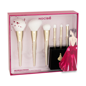 MES PRECIEUX PINCEAUX Kit de 6 pinceaux maquillage et son socle