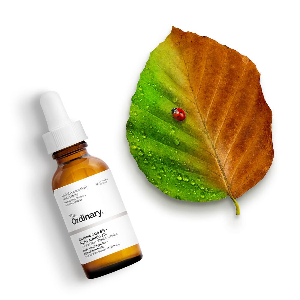 The Ordinary Acide Ascorbique 8% + Alpha Arbutine 2% Vitamine C Flacon 30ml