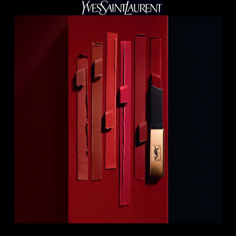 Yves Saint Laurent Rouge Pur Couture The Slim Rouge à Lèvres Mat Longue Tenue N°28 True Chili