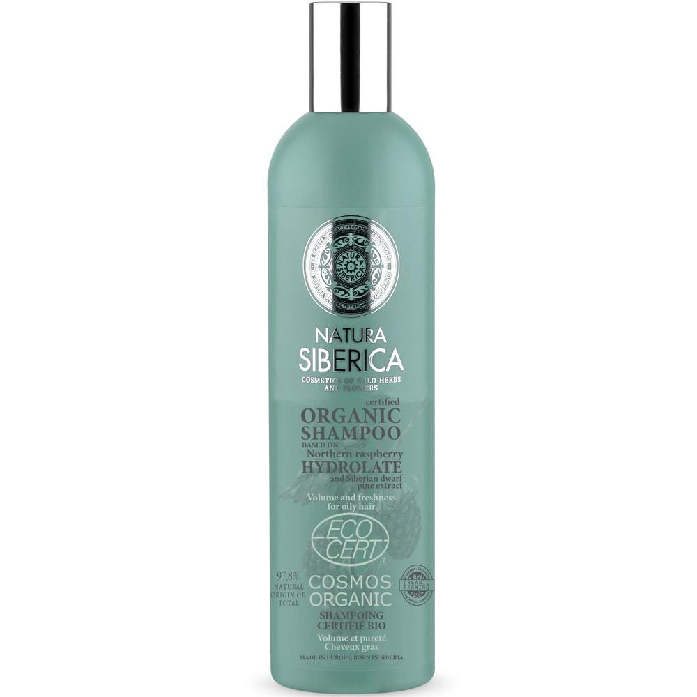 Natura Sibérica Soins capillaires certifiés Shampoing certifié bio Volume et équilibre Cheveux gras 400ml