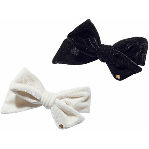 Set Of Two Ribbon Bow Tie Barrettes